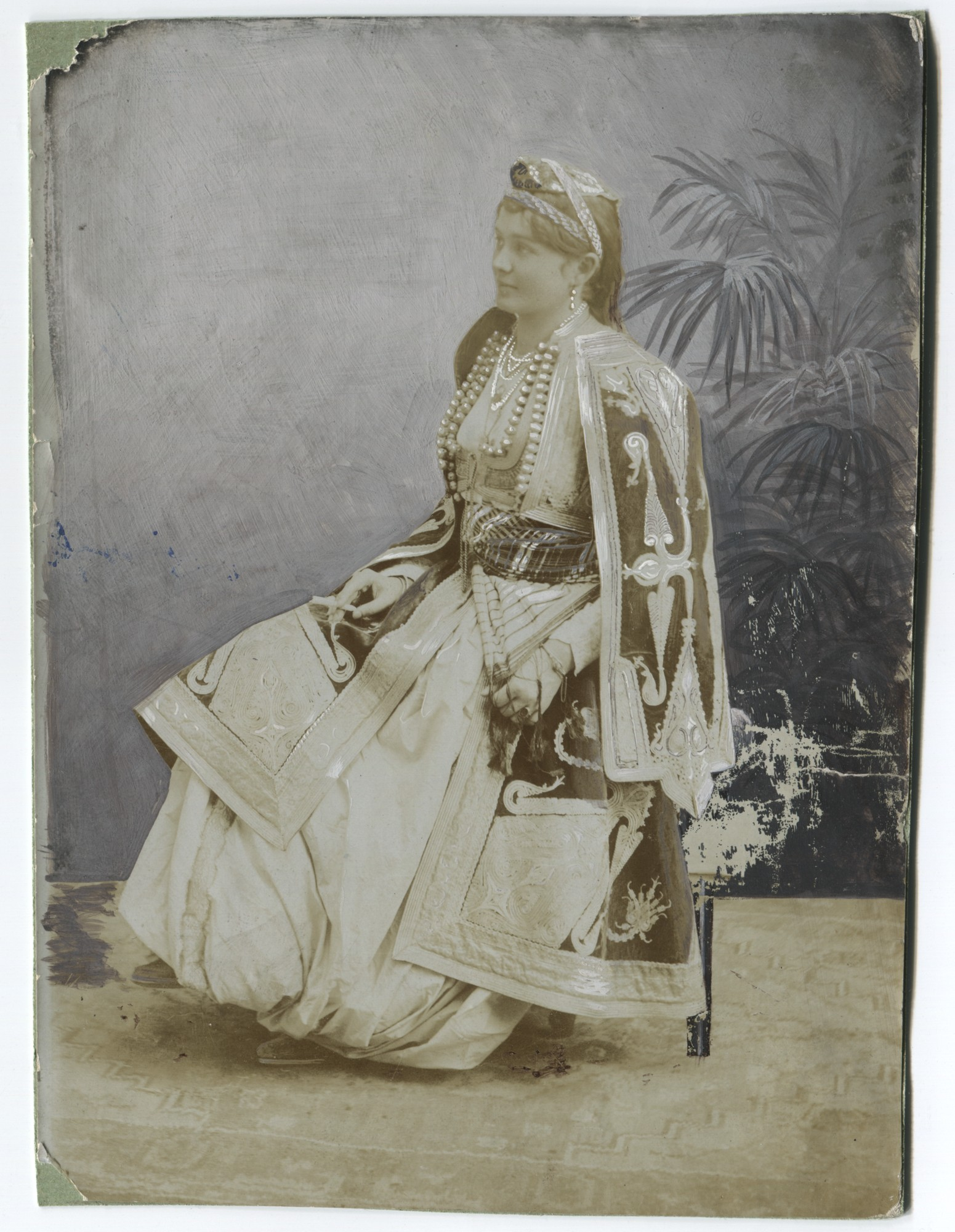 Studio portrait of a costly dressed townswoman, © The Historical Archive of Sarajevo