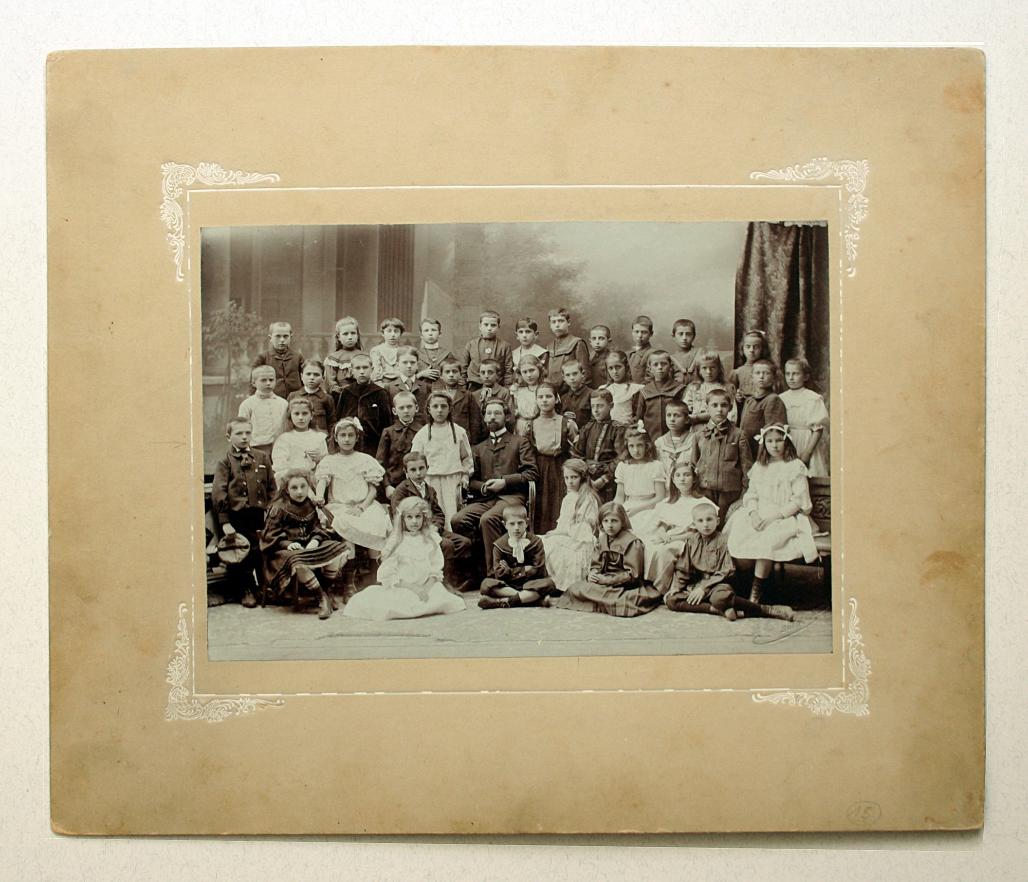 Group portrait of a teacher and pupils, © National Polytechnic Museum, Sofia
