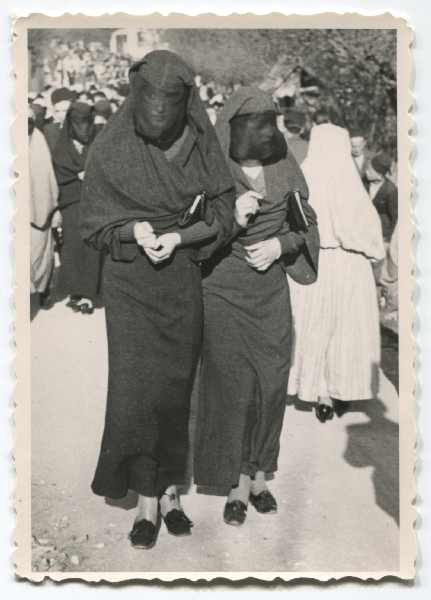 Close-up of two Muslim women in a street, © Museum of City of Sarajevo