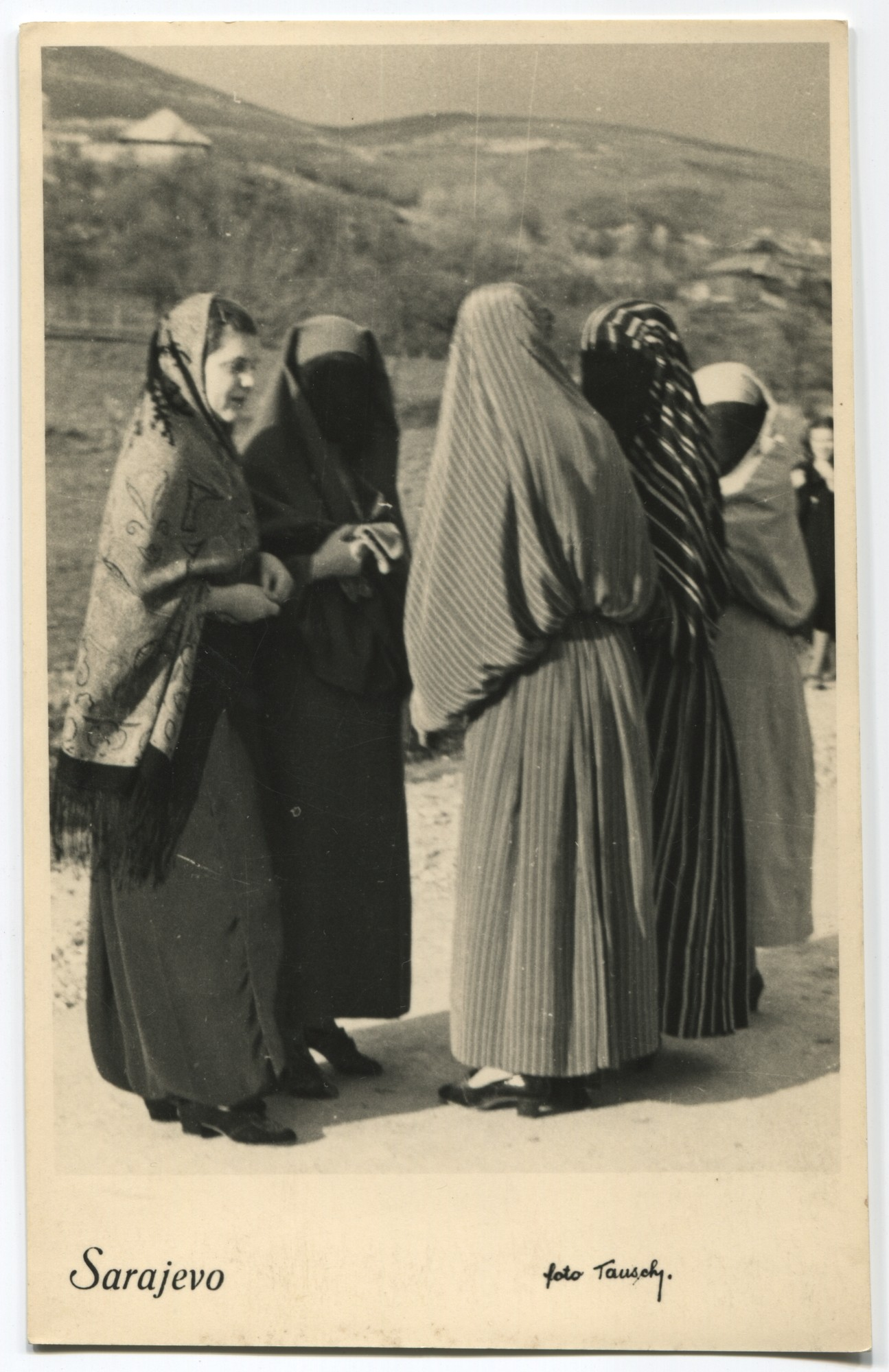 Group of women talking in the street, © Museum of City of Sarajevo