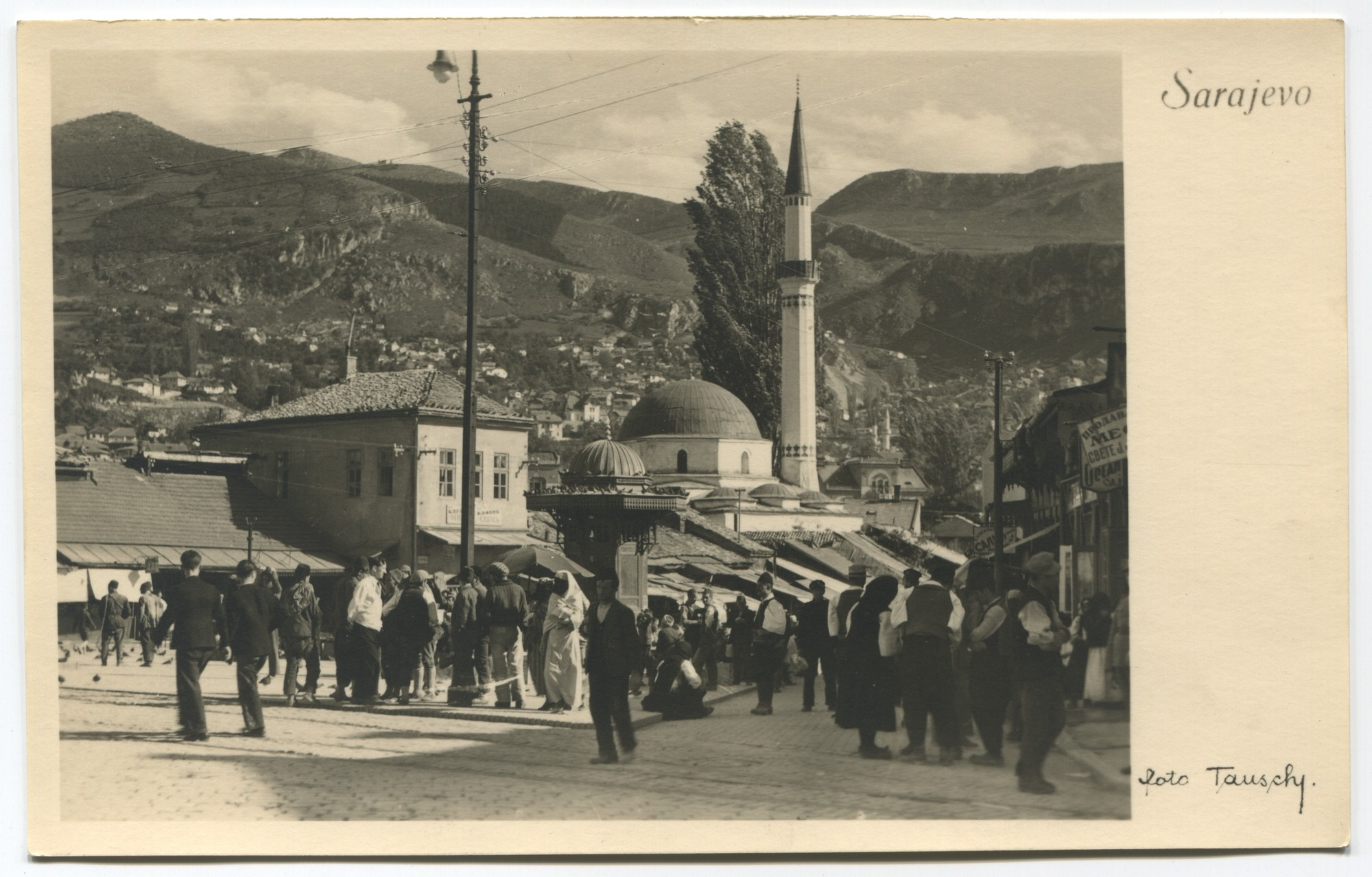 Every day life at the fountain Sebilj, © Museum of City of Sarajevo