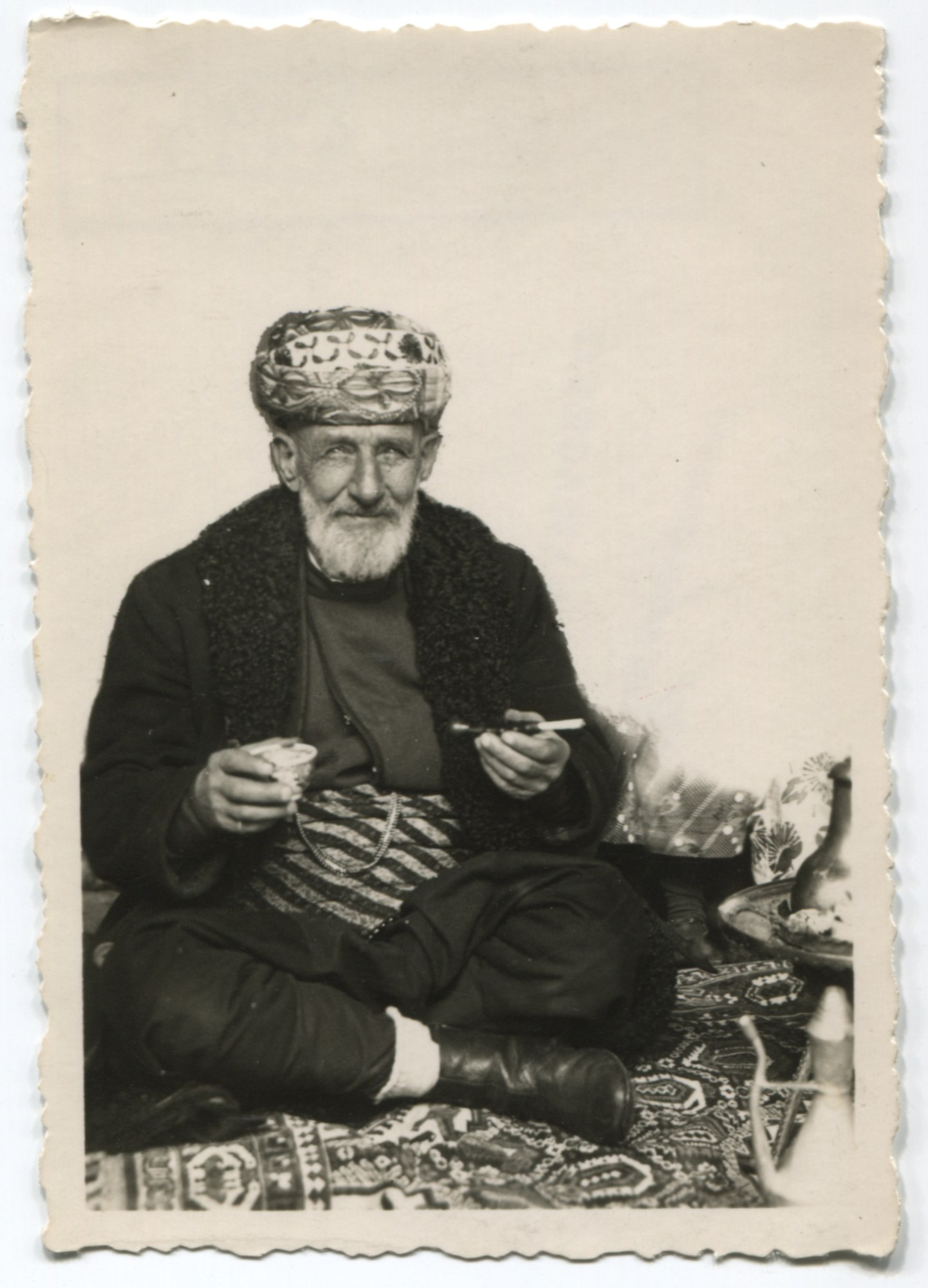 Portrait of an old Muslim man having coffee, © Museum of City of Sarajevo