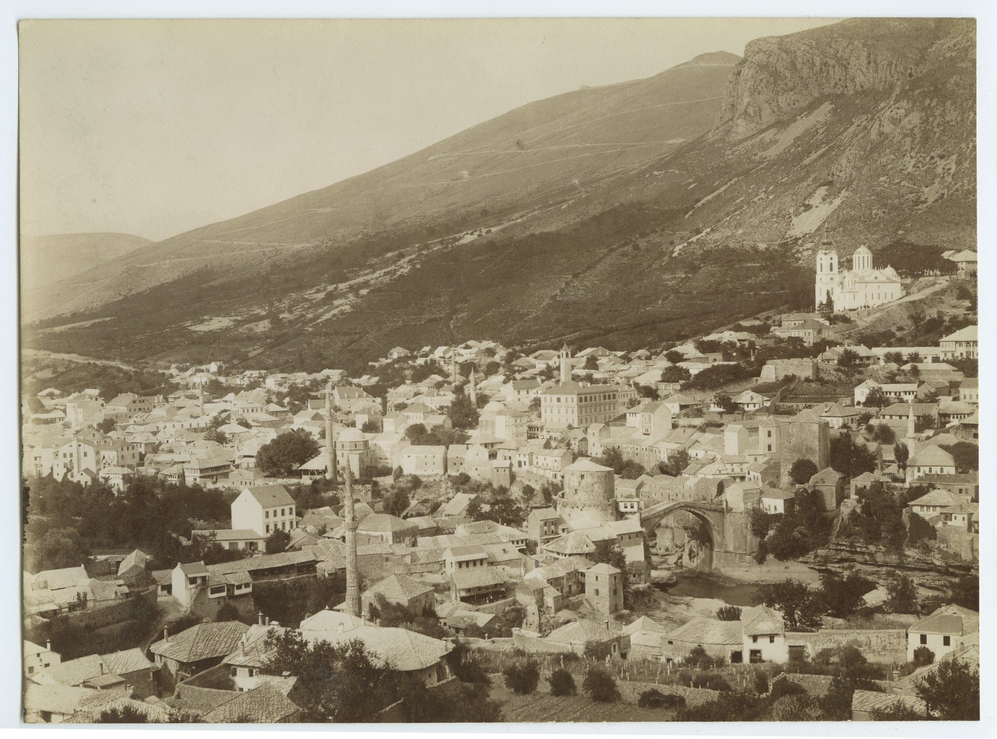 Mostar cityscape, © The Austrian Museum of Folk Life and Folk Art