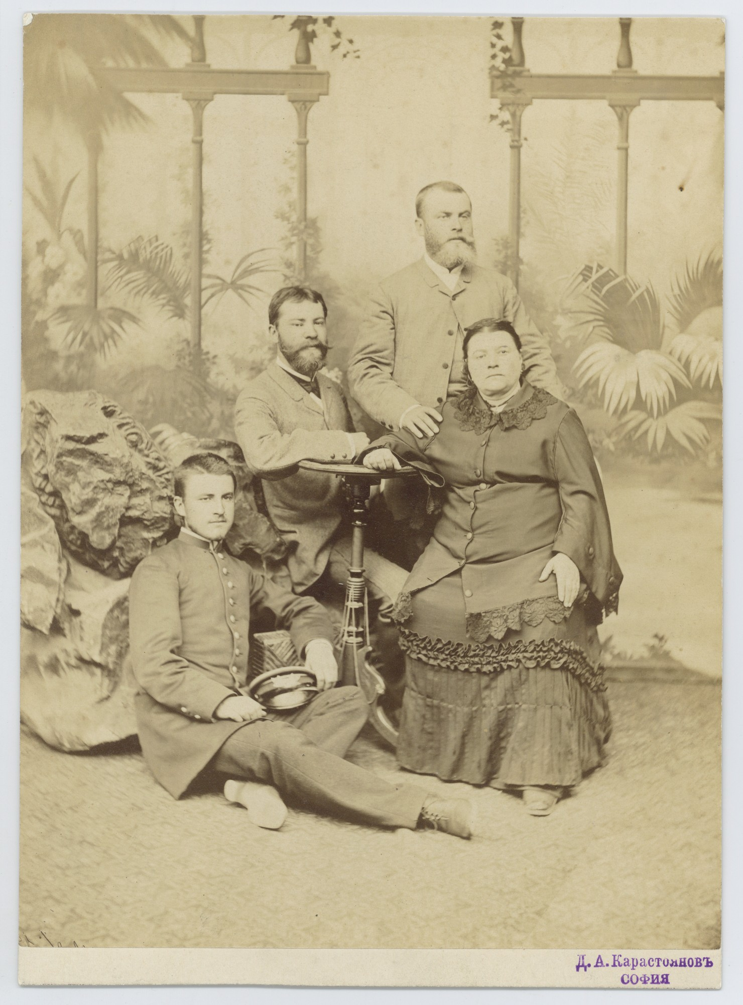 Studio portrait of the Zlatarski brothers with their mother Anastasia, © Scientific Archive of the Bulgarian Academy of Sciences