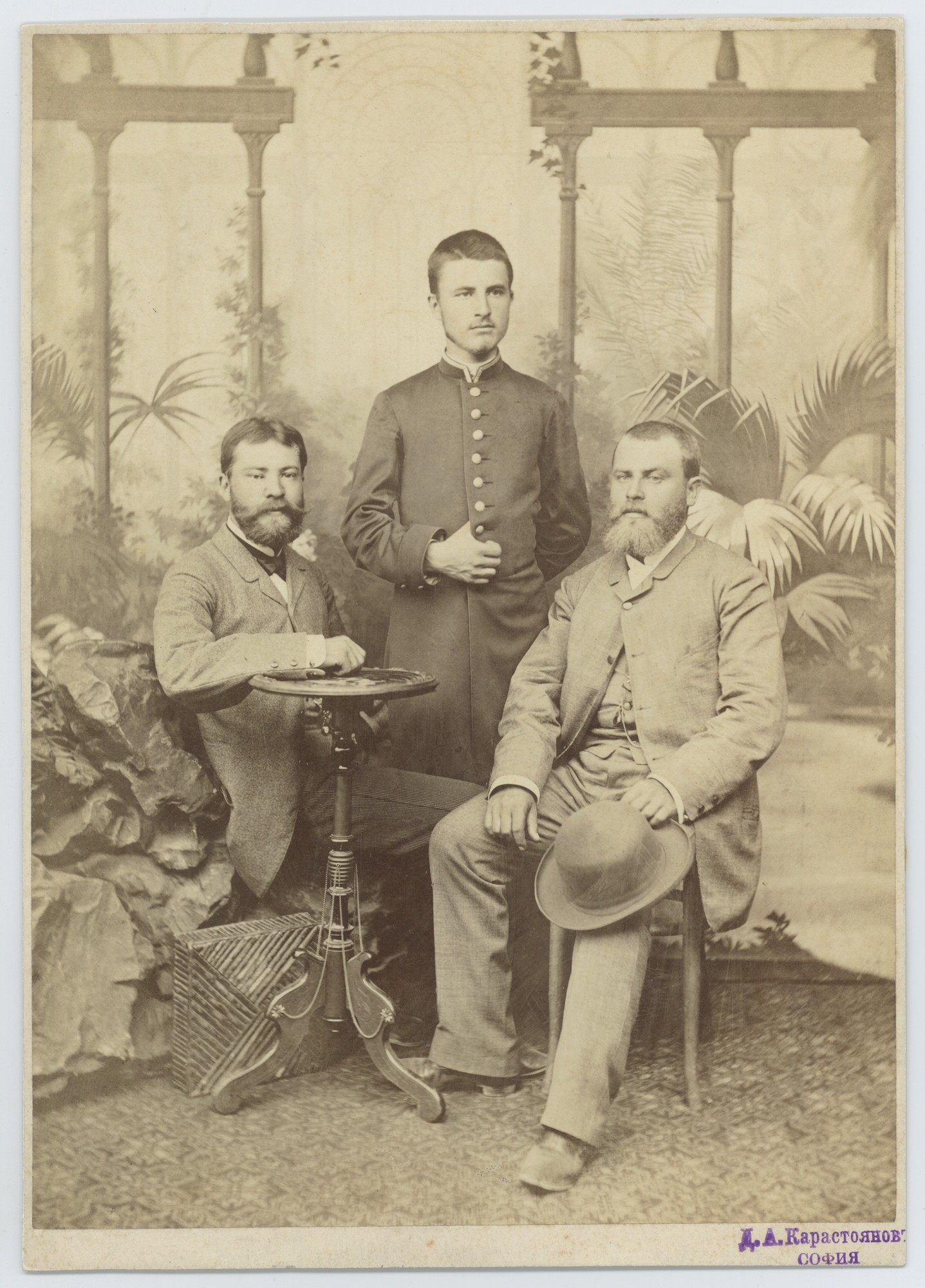 Studio portrait of the Zlatarski brothers, © Scientific Archive of the Bulgarian Academy of Sciences