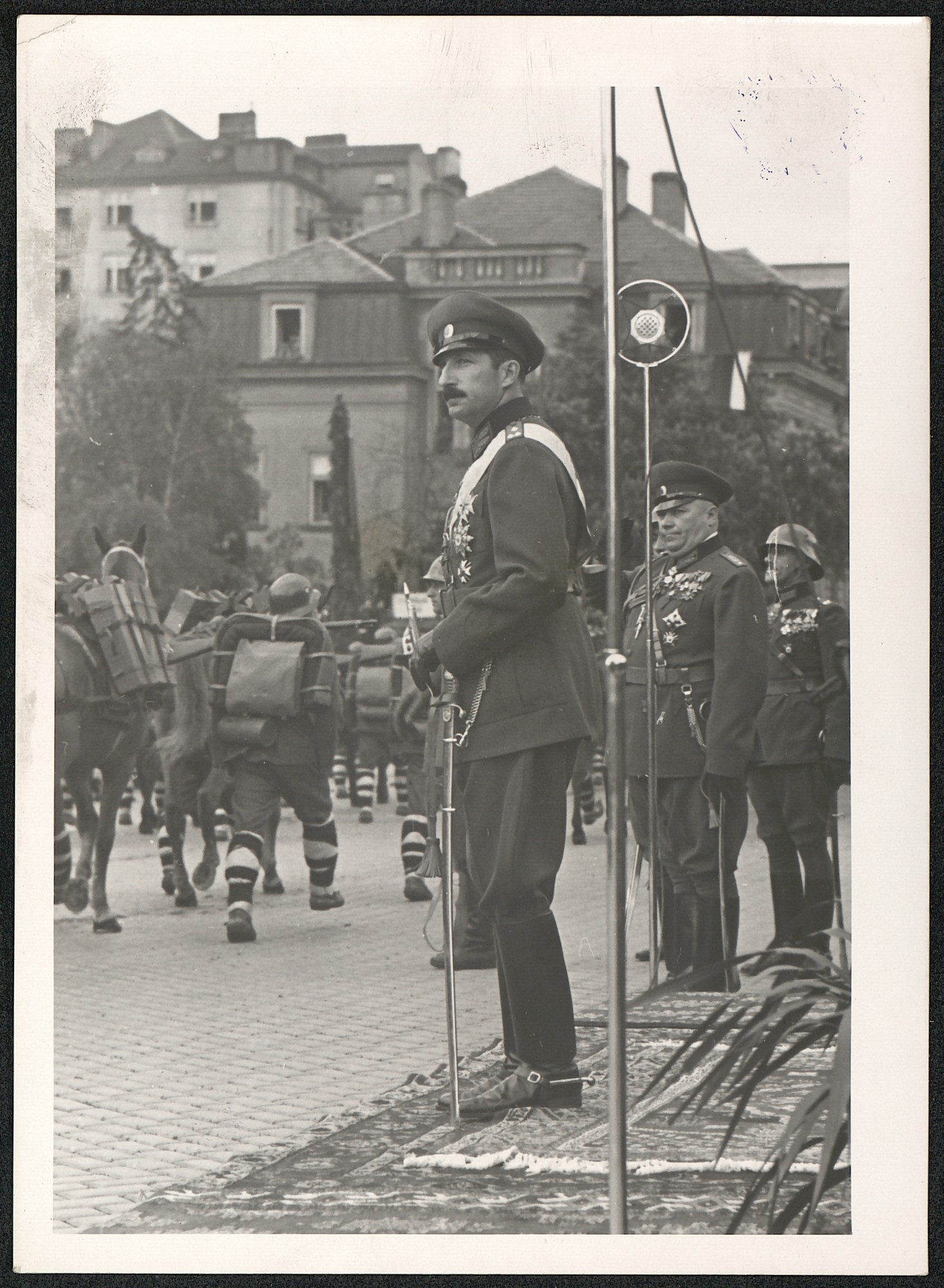 King Boris III at a military parade on St. George's Day, © St. Cyril and St. Methodius National Library