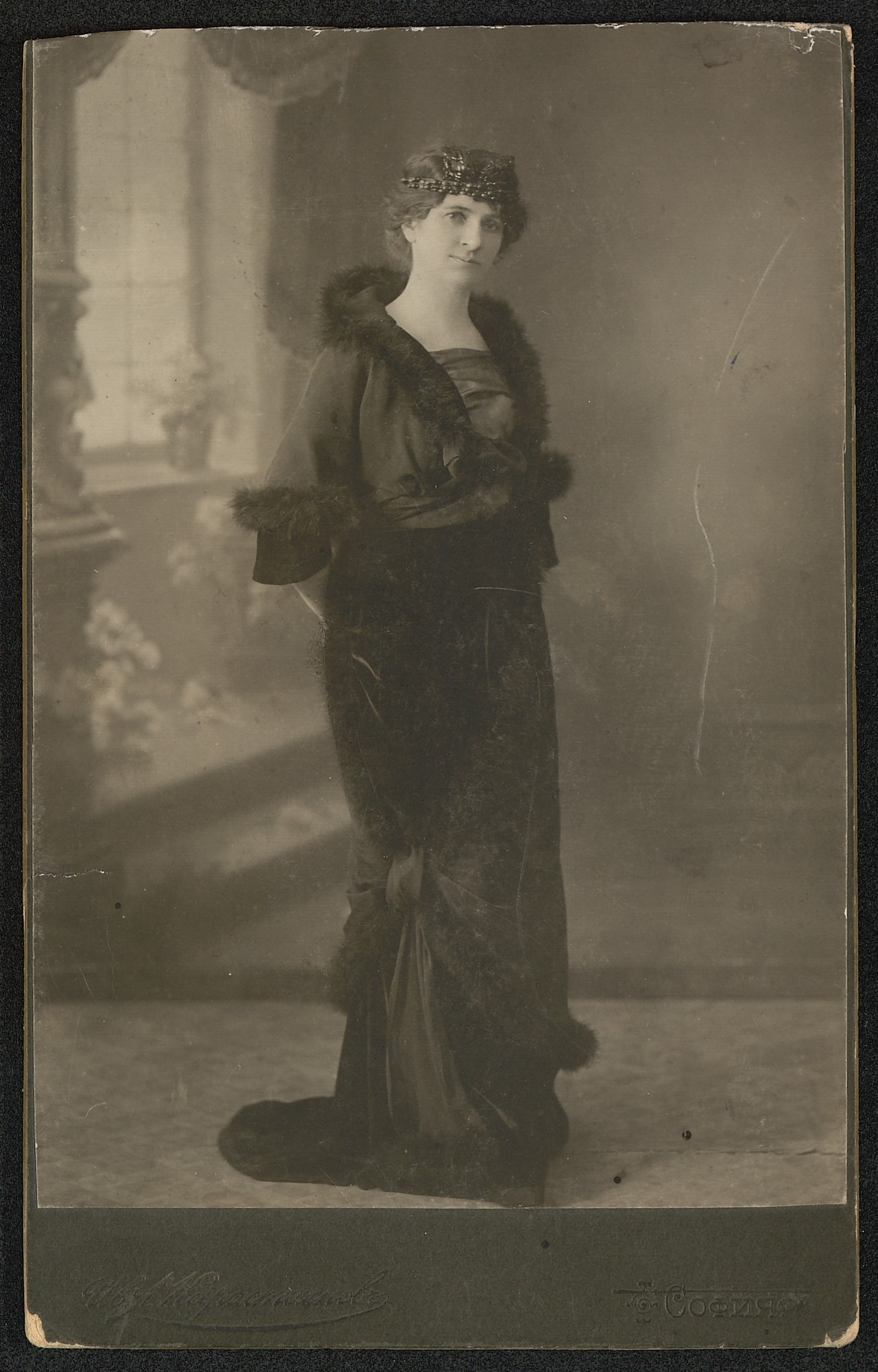 Studio portrait of Adriana Budevska, © St. Cyril and St. Methodius National Library