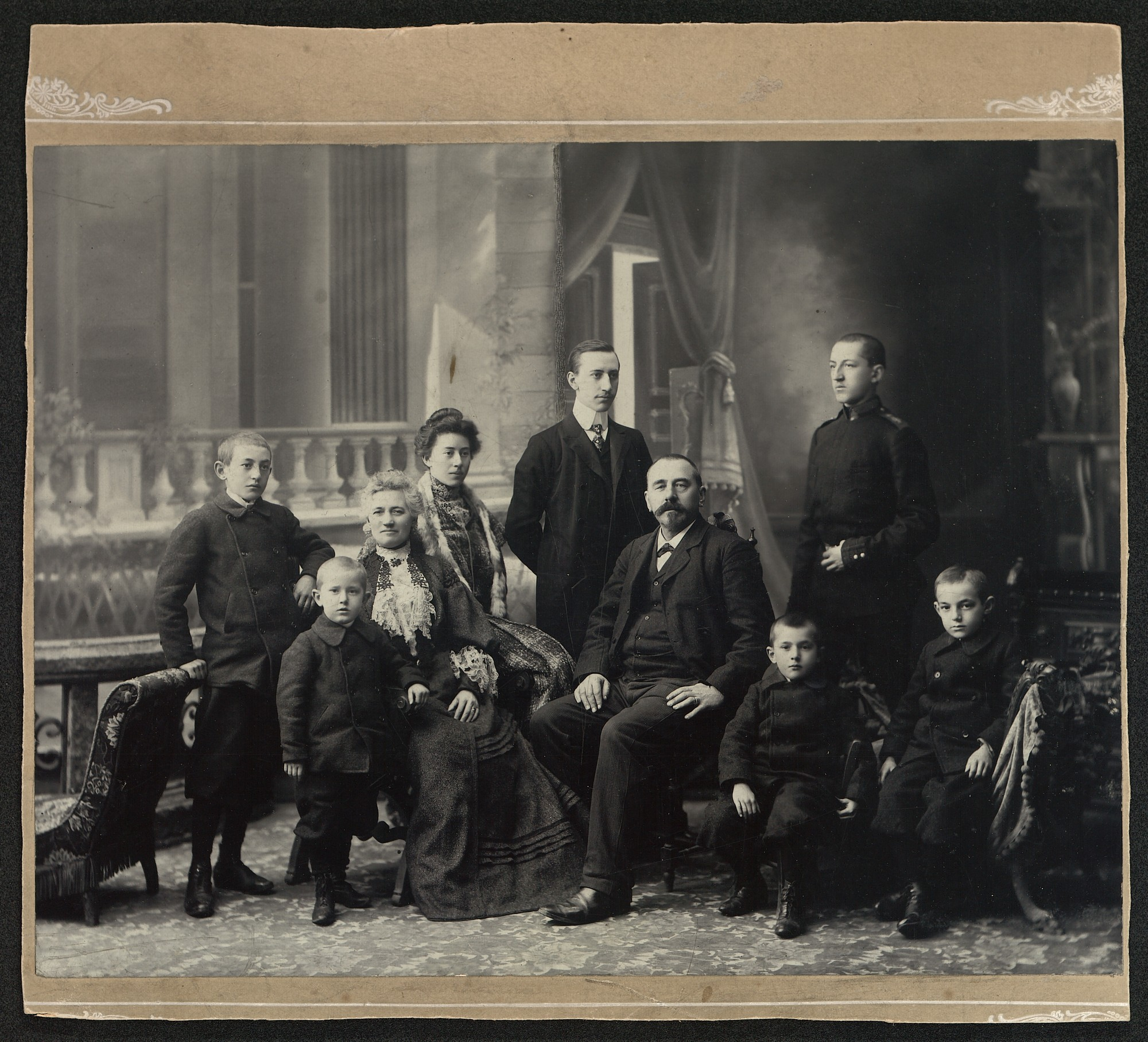 Studio portrait of the Tranka family, © St. Cyril and St. Methodius National Library