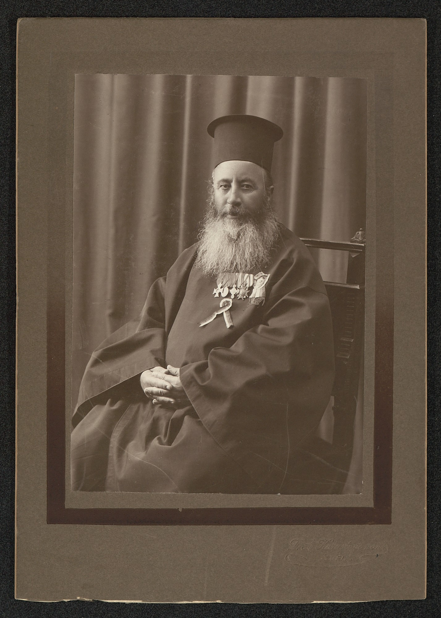 Portrait of priest Nikolay Krapchanski, © St. Cyril and St. Methodius National Library
