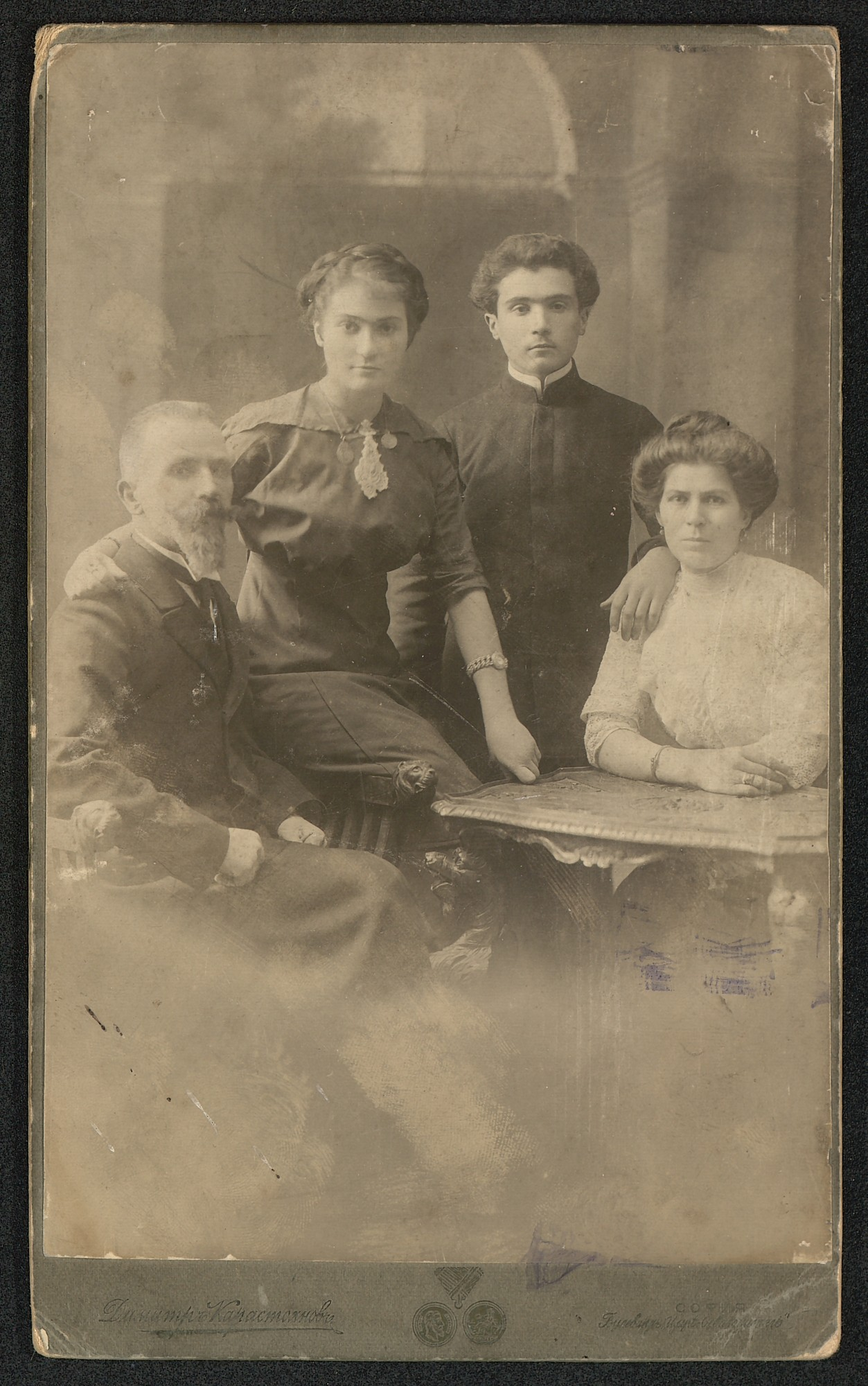 Studio portrait of the Rusev family, © St. Cyril and St. Methodius National Library