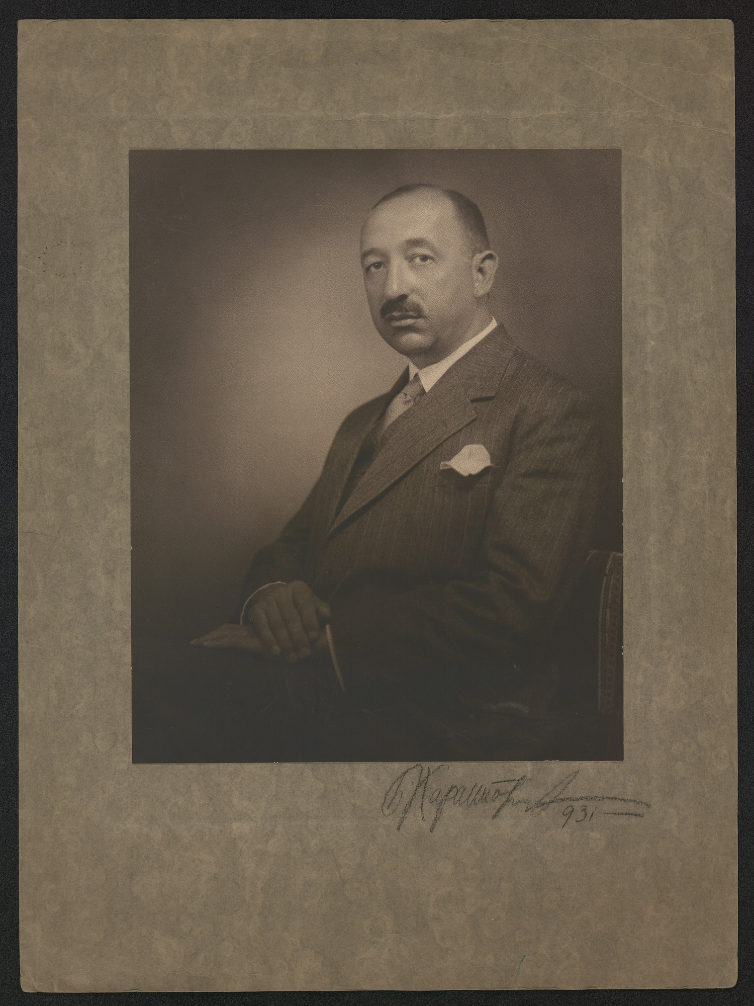 Studio portrait of Bogdan Filov, © St. Cyril and St. Methodius National Library