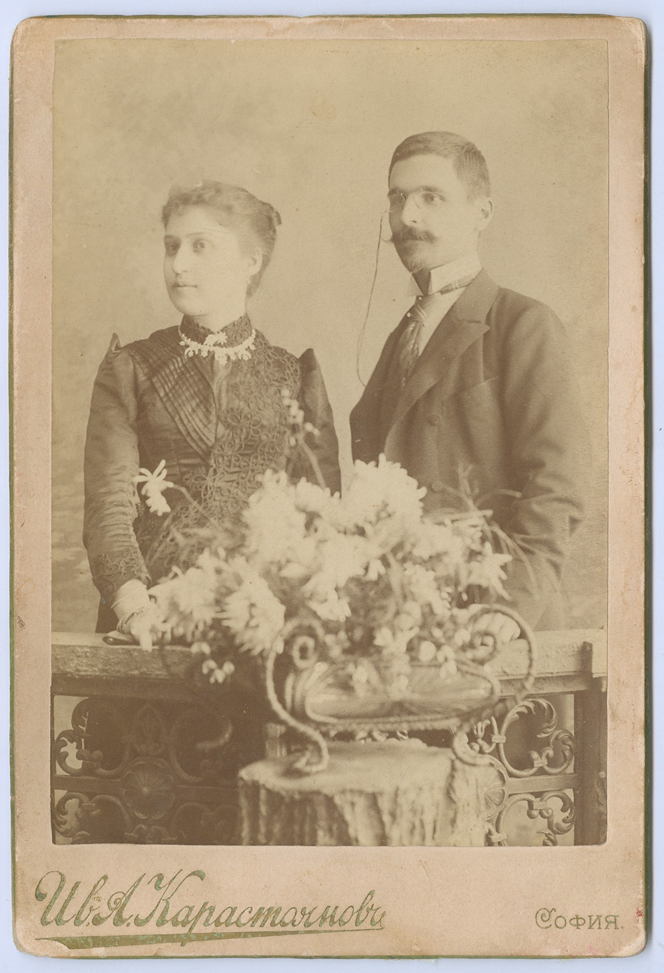 Studio portrait of Nedko Kableshkov and his wife Rayna, © State Archives - Plovdiv