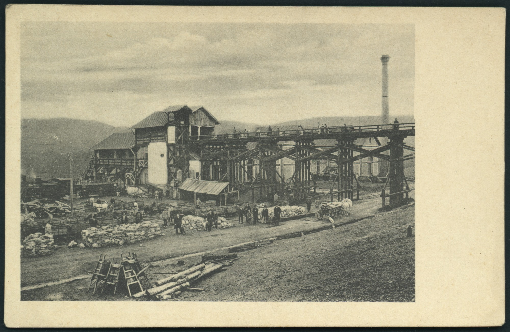 Postcard from the Pernik mine, © St. Cyril and St. Methodius National Library