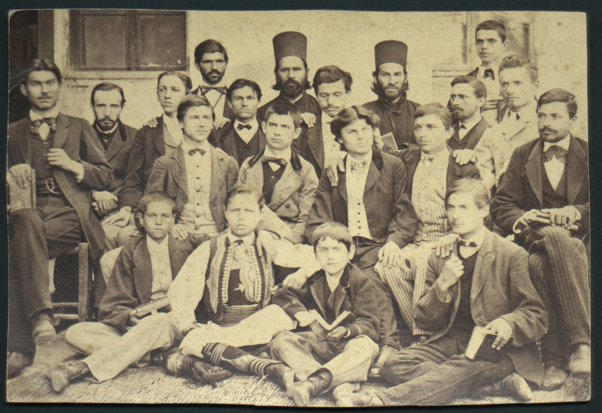 Bulgarian students and teachers in Belgrade, © St. Cyril and St. Methodius National Library
