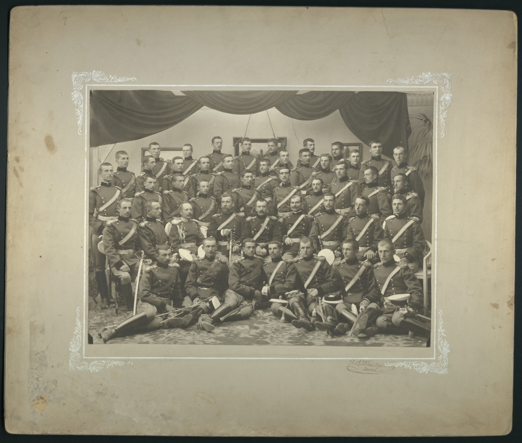 Group portrait of graduates' artillery officers, © St. Cyril and St. Methodius National Library