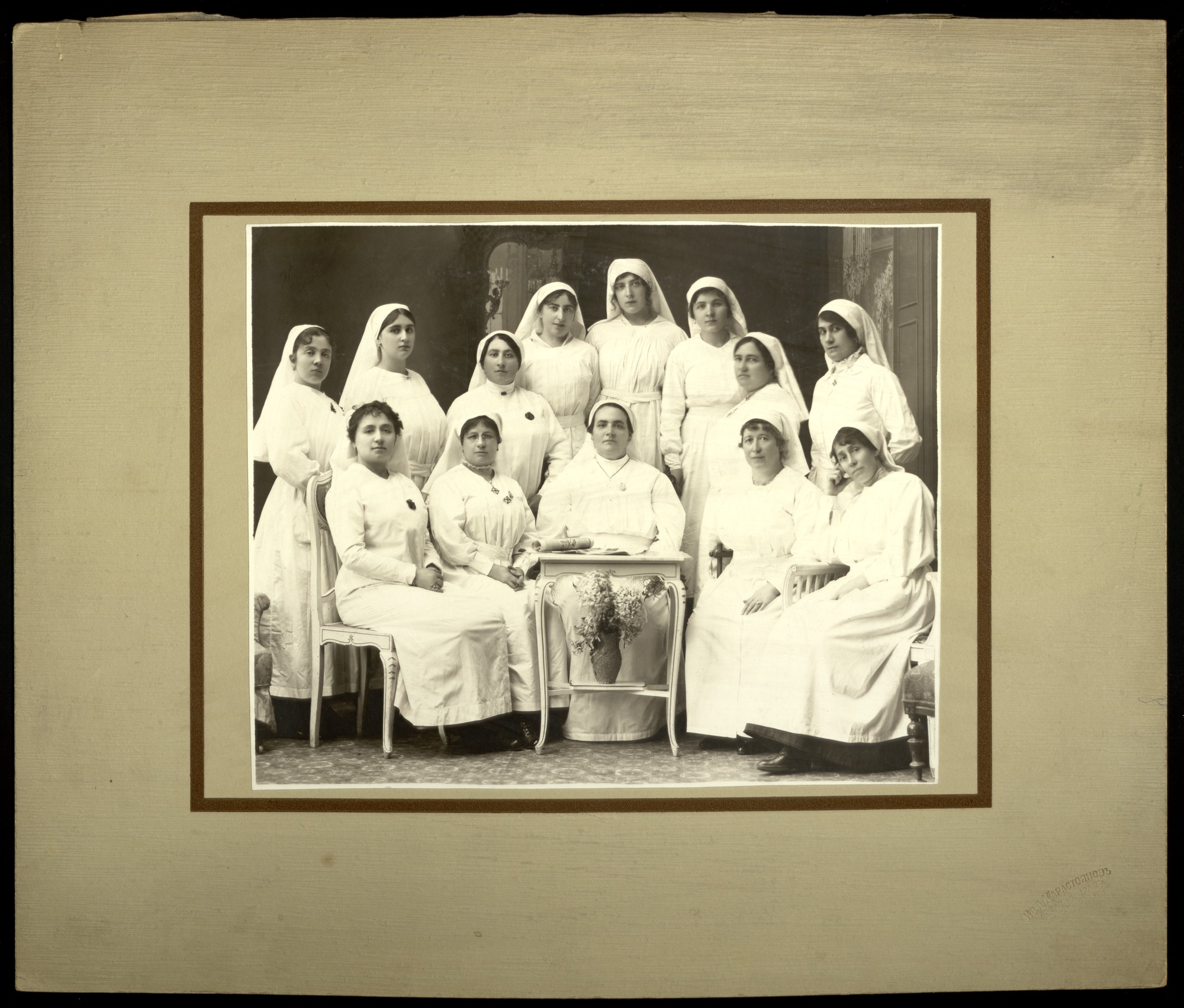 Studio group portrait of Samaritan women from World War I, © St. Cyril and St. Methodius National Library