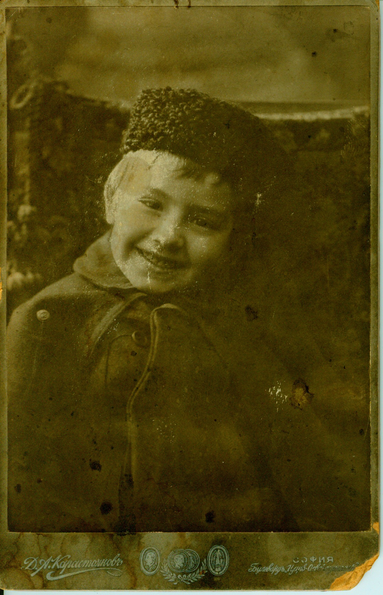 Studio portrait of Bozhidar Karastoyanov as a child, © Bilyana Braykova Karastoyanova