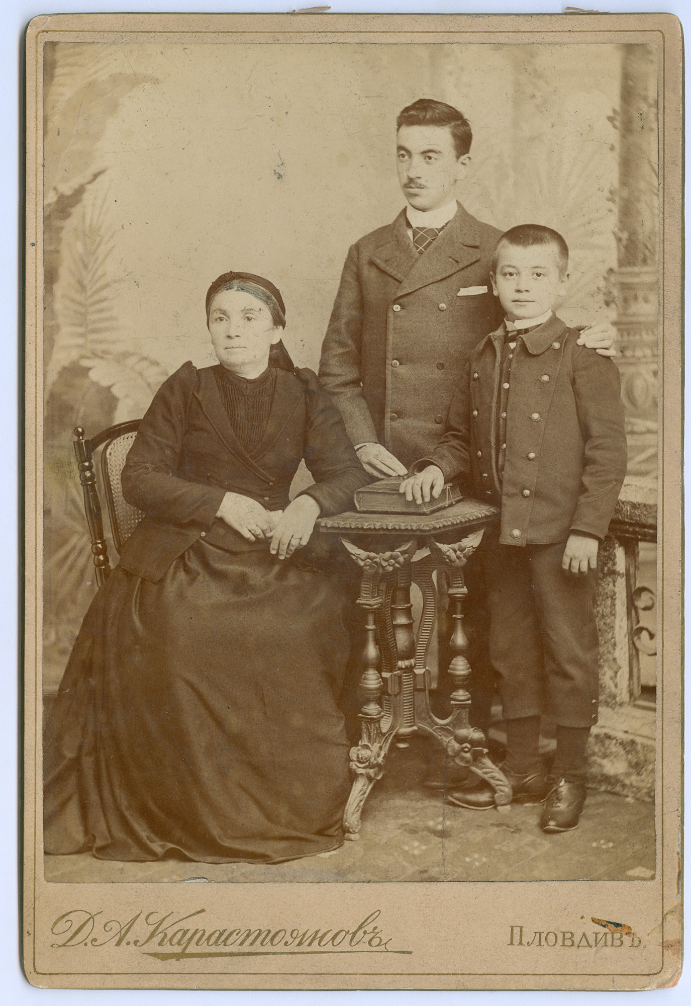 Studio portrait of the Hadzhikalchov family, © State Archives - Plovdiv