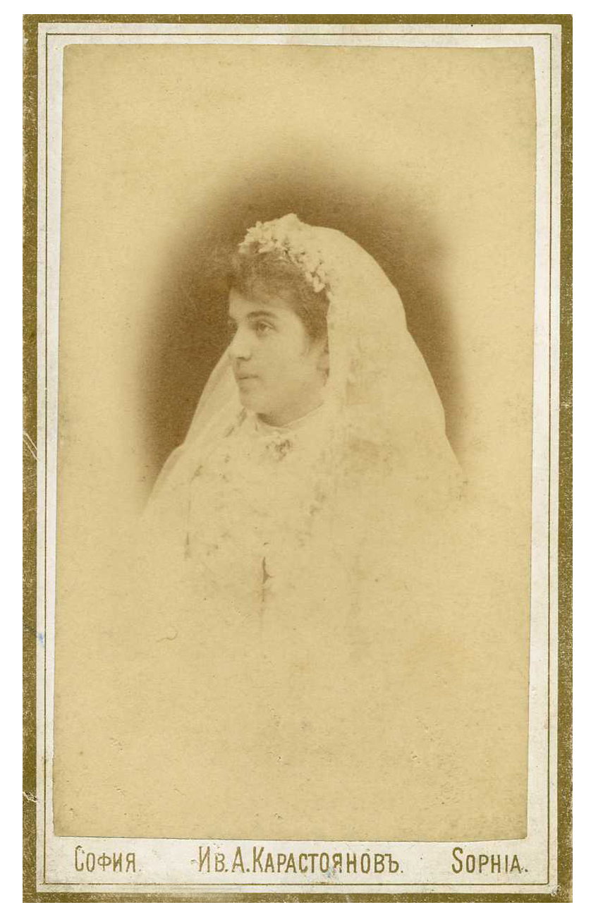 Wedding portrait of Maria Manolova-Dimitrova, © Svetla Bogdanova