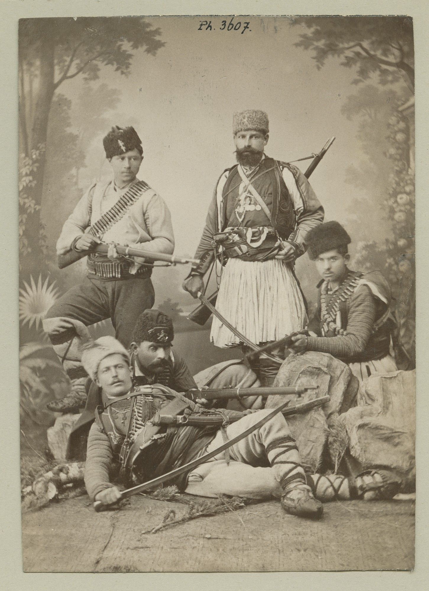 """Bulgarian volunteers in the Serbo-Bulgarian War 1885"", © The Austrian Museum of Folk Life and Folk Art"