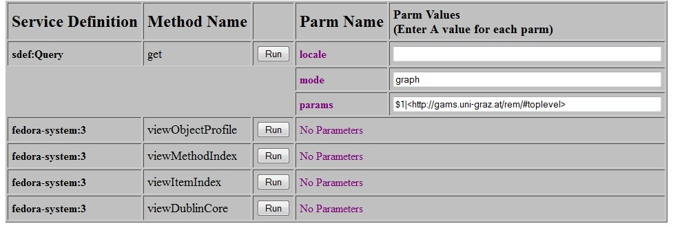 Enter parameters for the query