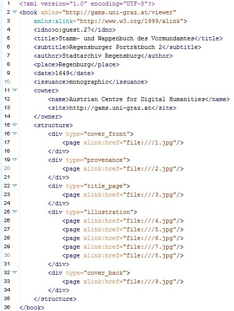 Local editing of simplified XML structure