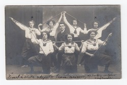 [Untitled] Group of females from a local gymnastics association posing for the camera