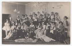 [Untitled] Picture of girls and women dressed in costumes.