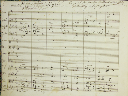 Musical scores from the Hüttenbrenner bequest