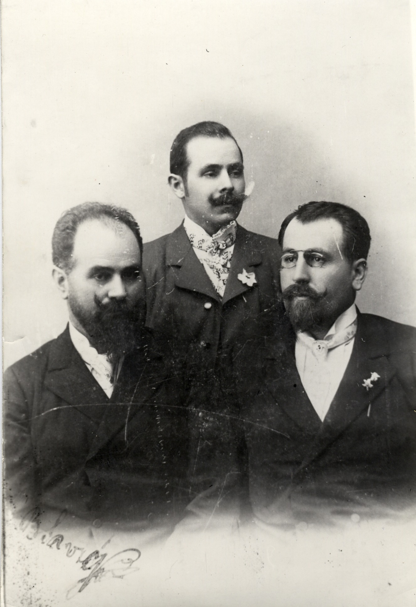 Serbian cinema-owners and film producers Boža (1862–1927), Pera (1868–1925) and Svetolik (1874–1944) Savić, © Jugoslovenska kinoteka, Belgrade