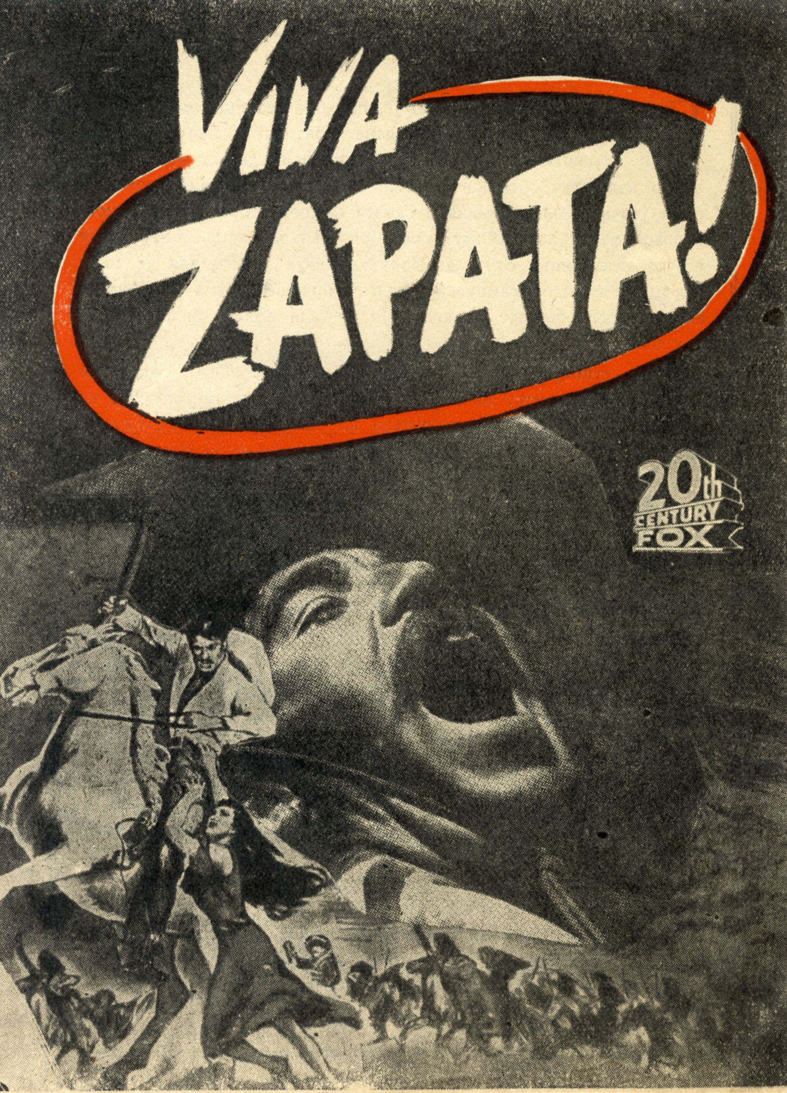 Advertisement for the feature film 'Viva Zapata', © Jugoslovenska kinoteka, Belgrade