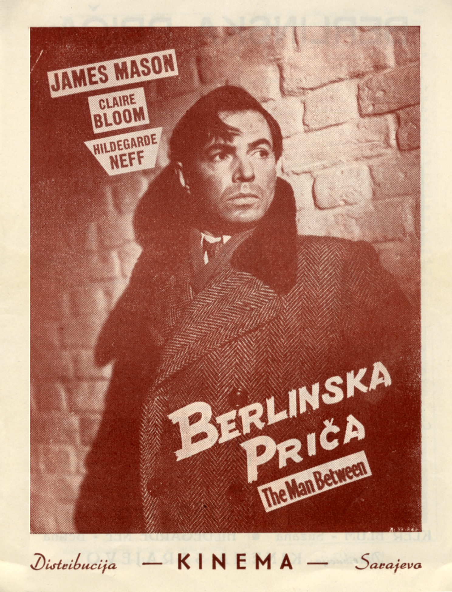Advertisement for the feature film 'The Man Between', © Jugoslovenska kinoteka, Belgrade