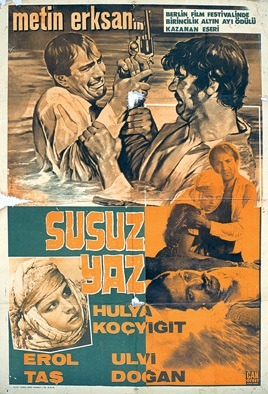 Poster advertising the Turkish feature film 'Susuz yaz', © TÜRVAK – Türker İnanoğlu Foundation