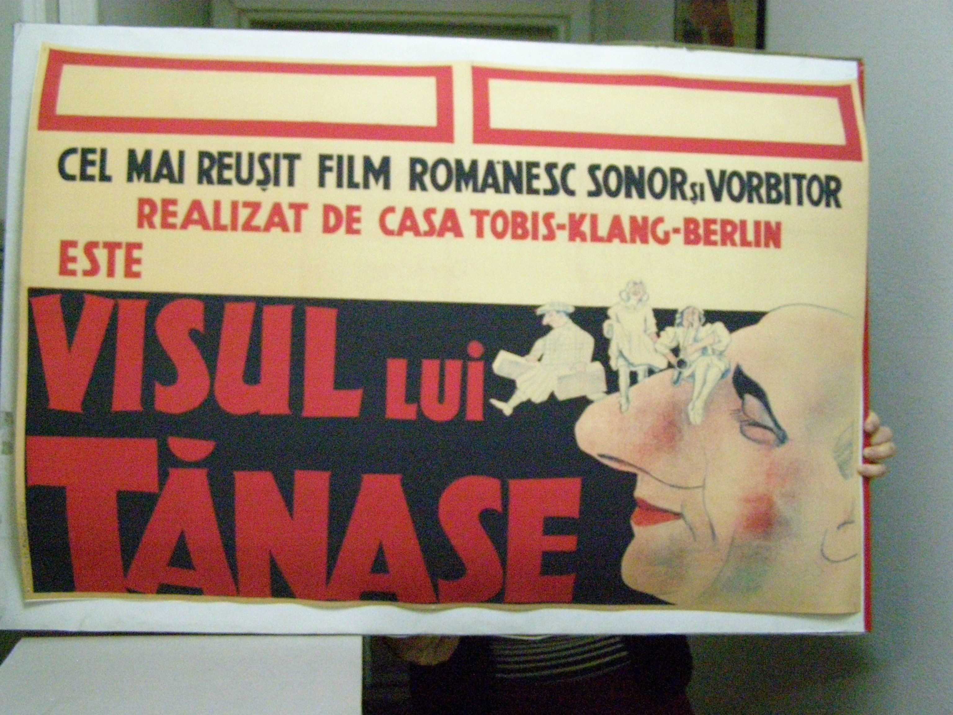 Advertisement for the Romanian feature film 'Visul lui Tănase', © Arhiva Naţională de Filme