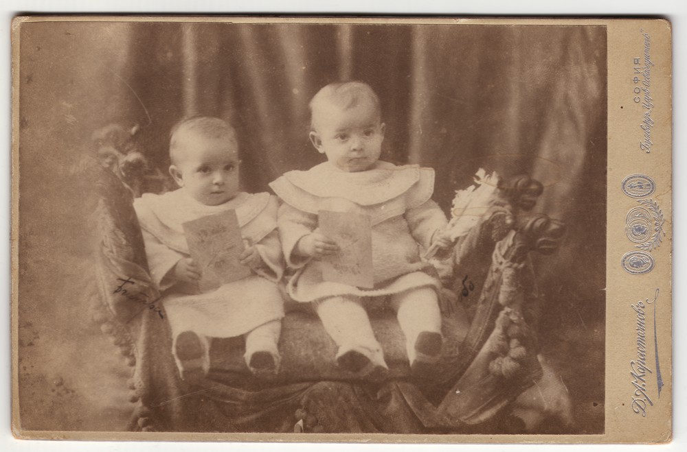 Portrait of two small children in white tunics, © Museum of Applied Art