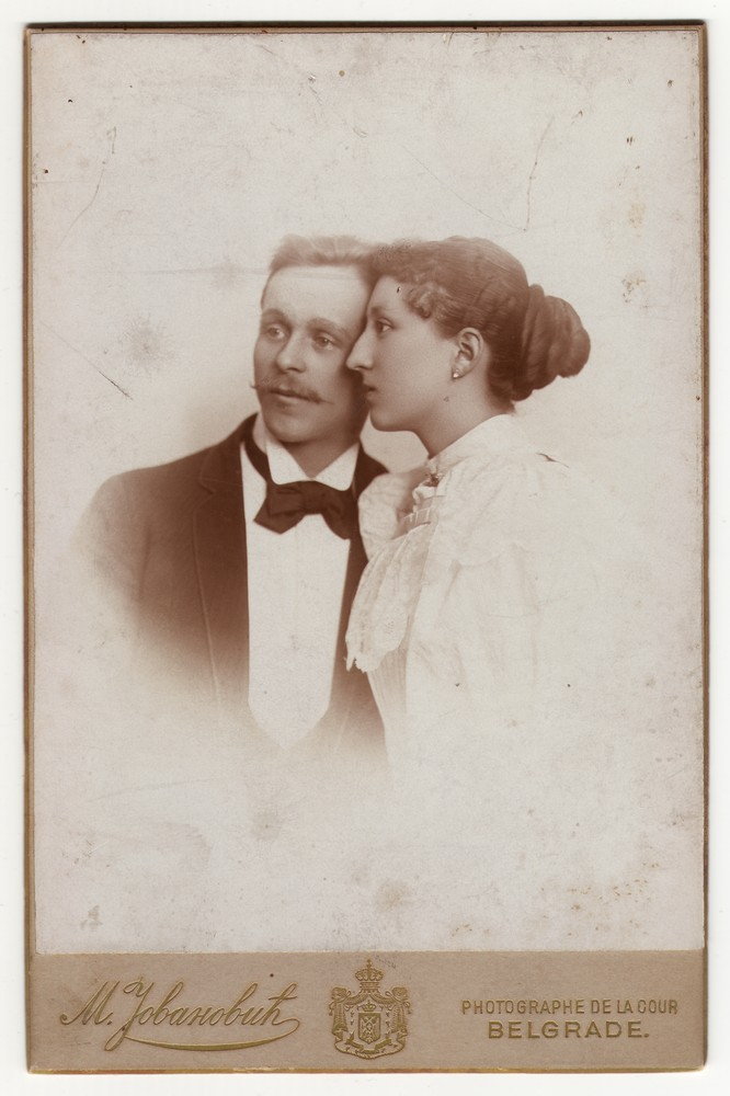 Studio portrait of a young couple, © Museum of Applied Art