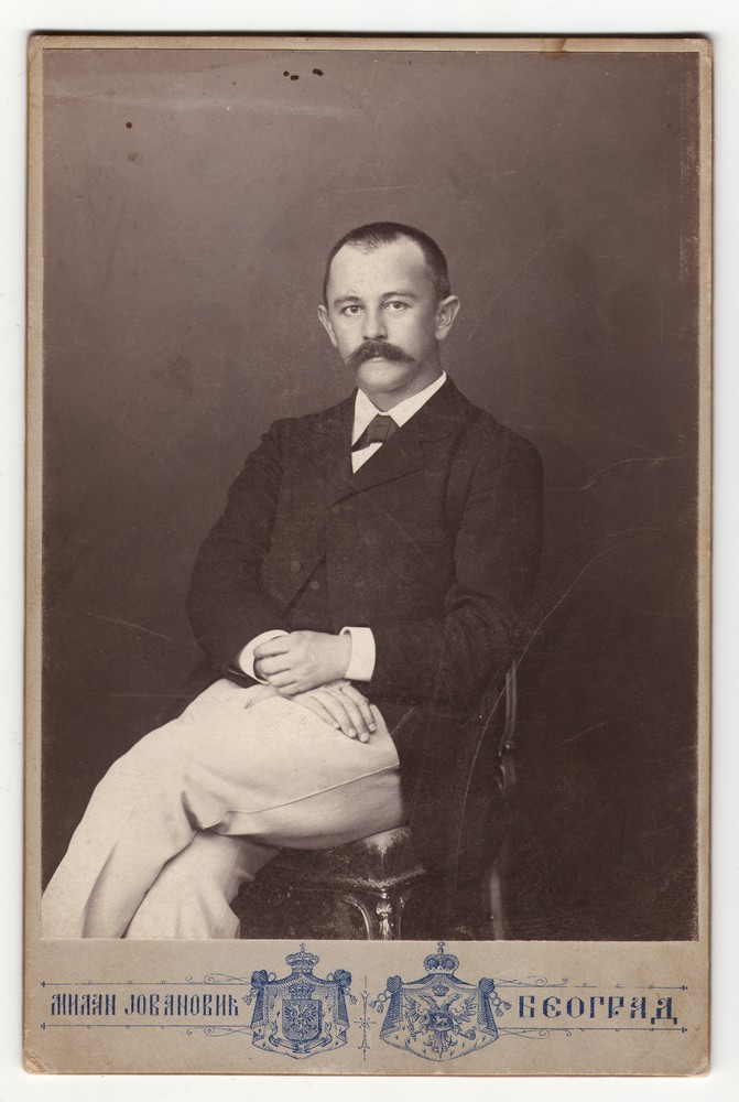 Studio portrait of Jovan Cvijić, © Museum of Applied Art