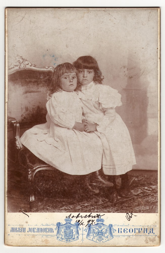 Studio portrait of the Lovčević girls, © Museum of Applied Art