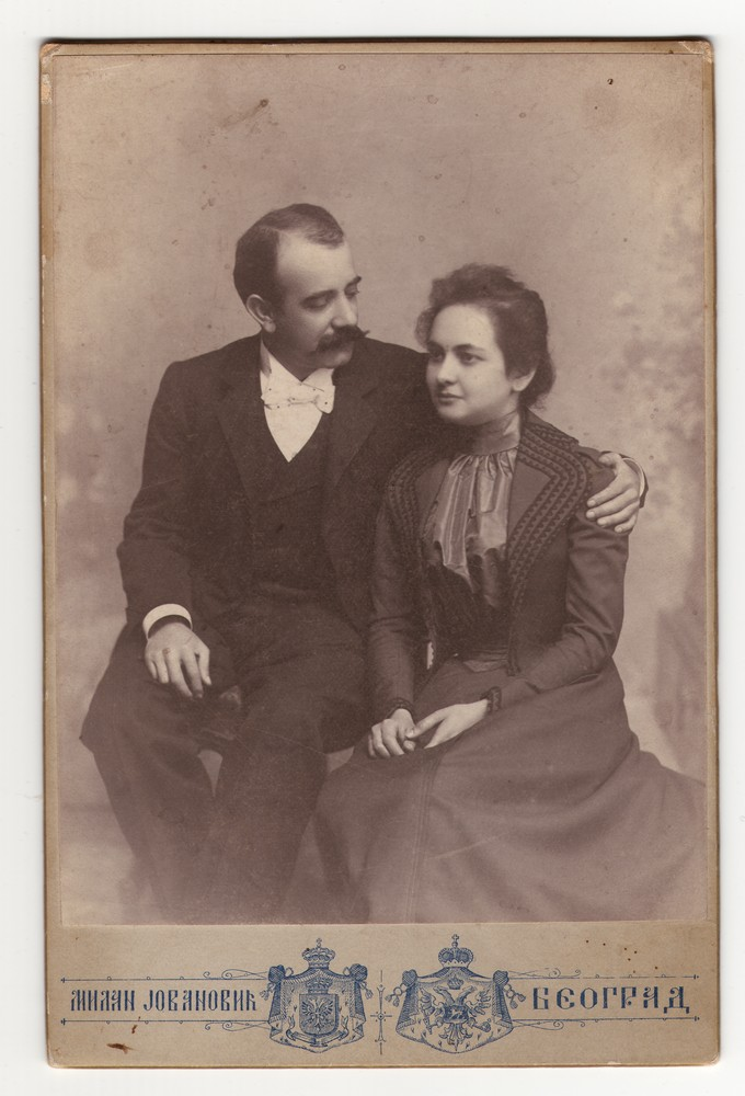 Studio portrait of Katarina and Ćima, © Museum of Applied Art