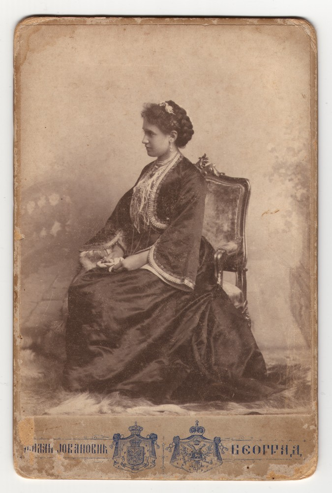 Young woman in traditional Serbian town attire, © Museum of Applied Art