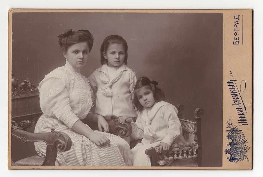 Studio portrait of a woman and two girls, © Museum of Applied Art
