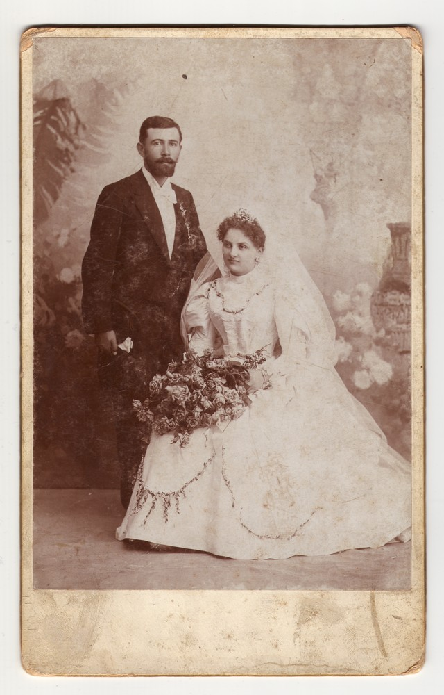 Wedding photograph of Ilija and Leposava Jovčić, © Museum of Applied Art