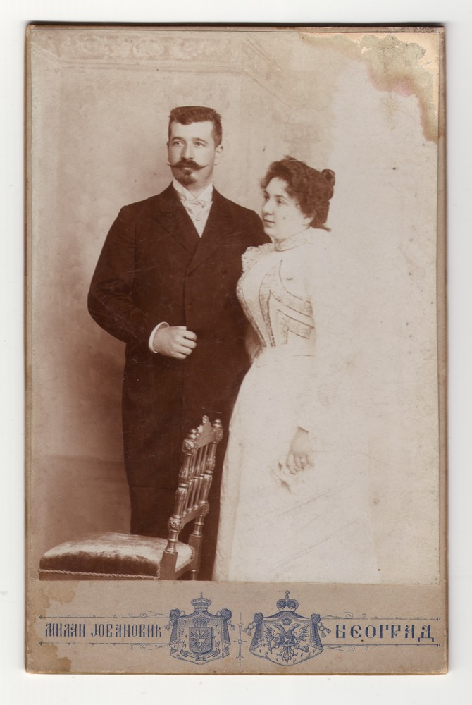 Wedding photograph of Jelena Nikolić and her husband, © Museum of Applied Art