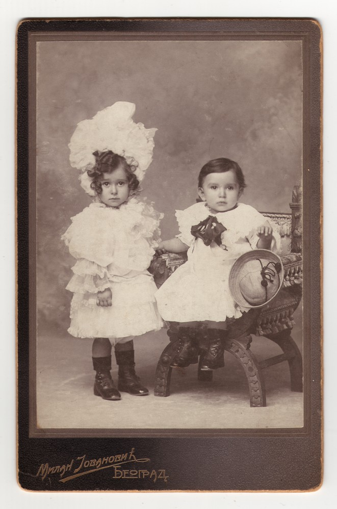 Studio portrait of the young children Jokica and Marko, © Museum of Applied Art
