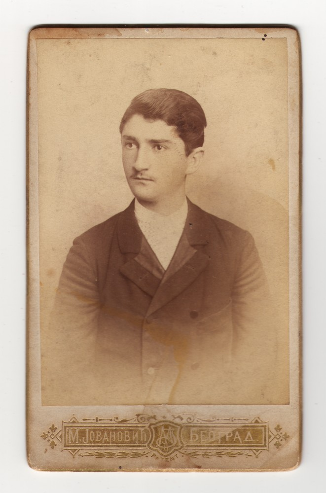 Studio photograph of Milan Nikolić, © Museum of Applied Art