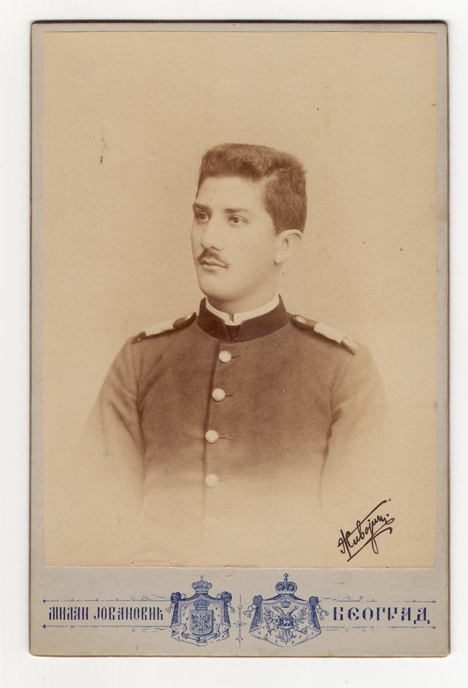 Studio portrait of Cadet Živojin Jov., © Museum of Applied Art