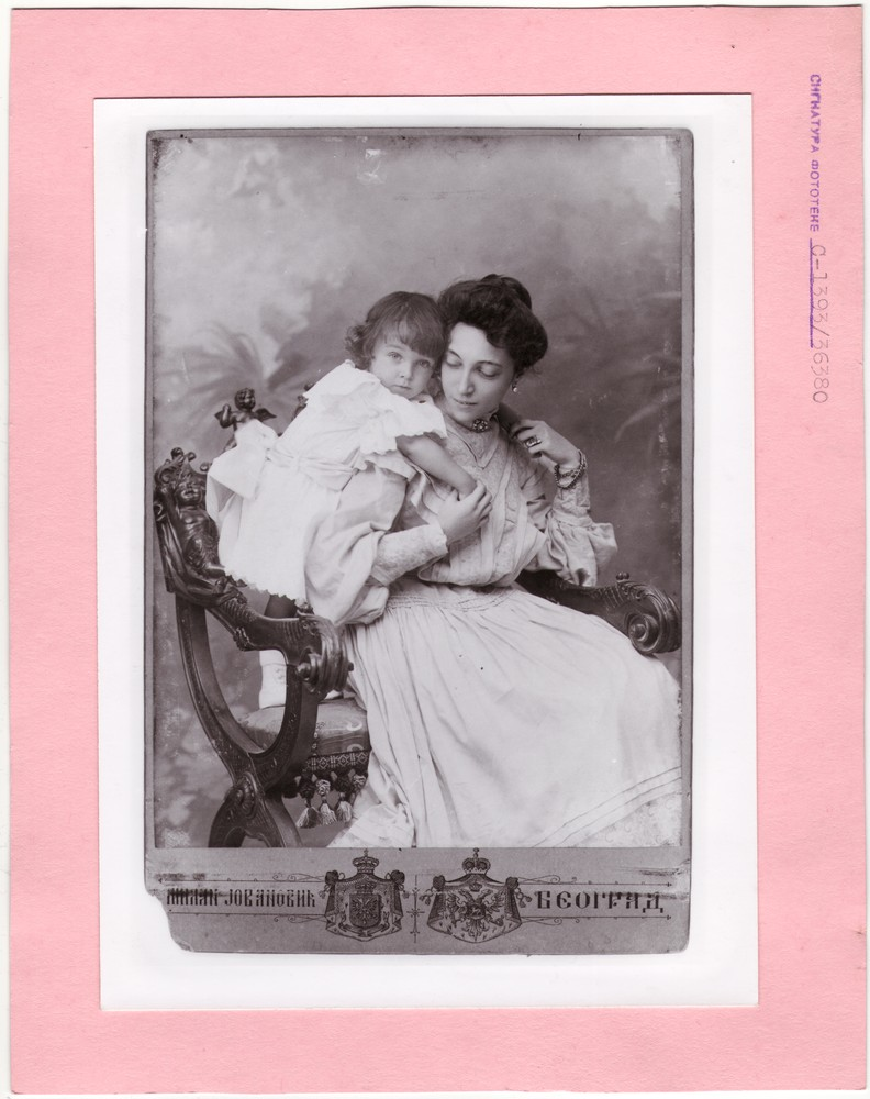 Studio portrait of Mrs. Ristić and her son Marko, © Museum of Applied Art