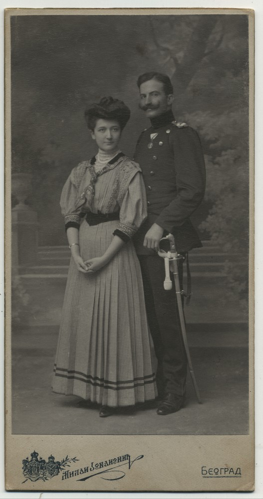 Studio portrait of Ana and Pantelija Jurišić, © Miloš Jurišić