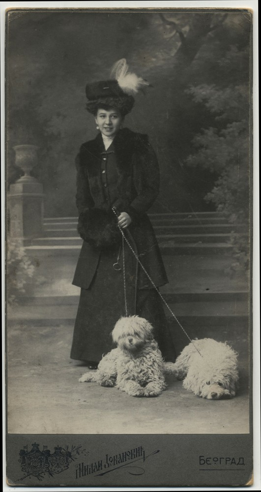 Studio portrait of a lady with dogs, © Miloš Jurišić