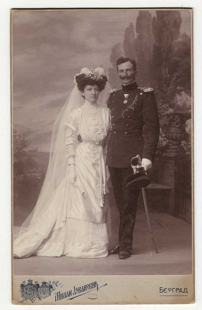 Wedding portrait of Ana and Pantelija Jurišić, © Miloš Jurišić